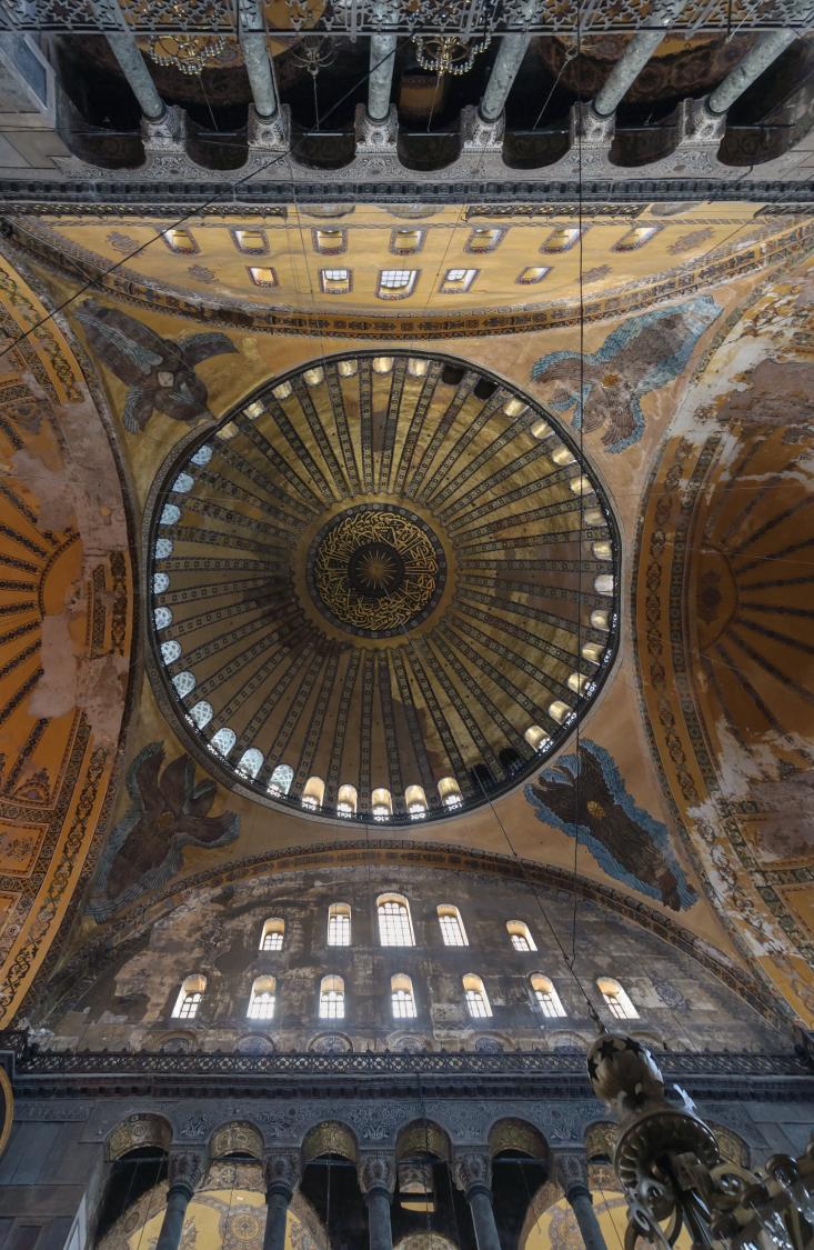 Sainte-Sophie (Istanbul, Turquie) - vue de la coupole